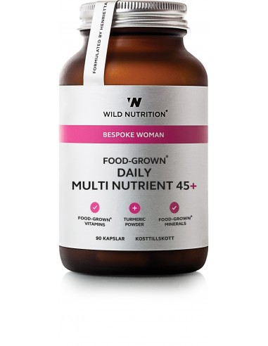 Food Grown Daily Multi Woman 90 kapsler-Wild Nutrition