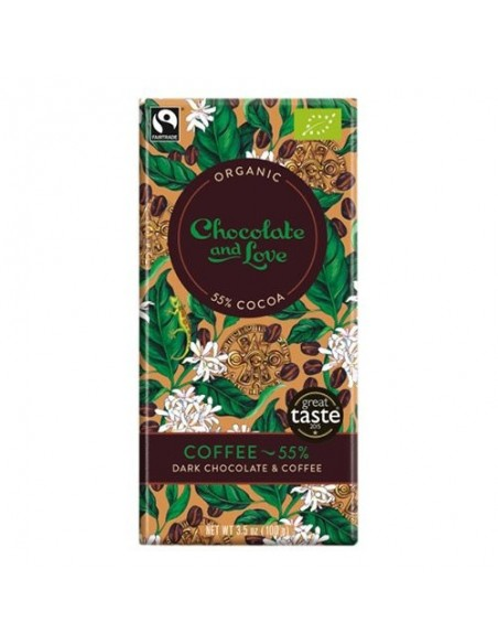 Chokolade Coffee 55% Økologisk Chocolate and Love