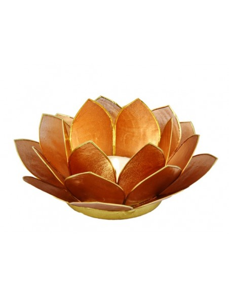 Lotus Stager /  kobber, 14 cm.