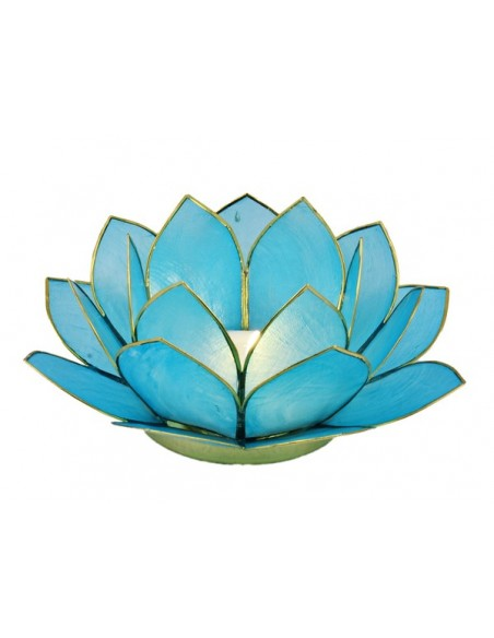Lotus Stager Light Sea blue, 11 cm.