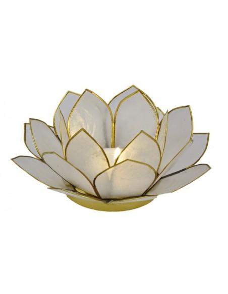 3 lags Lotus Stager / hvid, 11 cm.