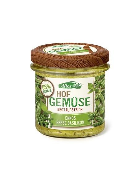 Smørepålæg  Ærter Basilikum Farm Vegetables Allos 135 g