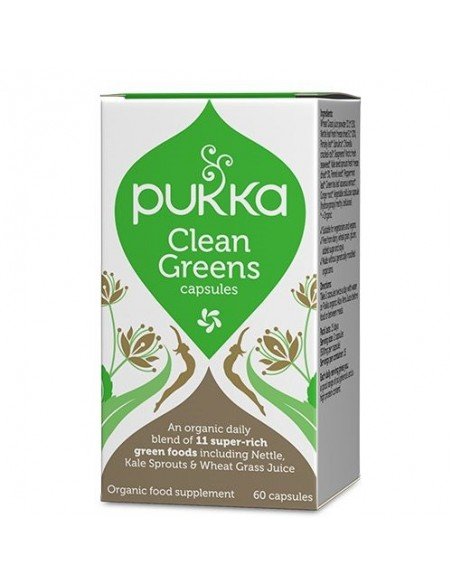 Clean Greens kapsler 60 kapsler - Pukka
