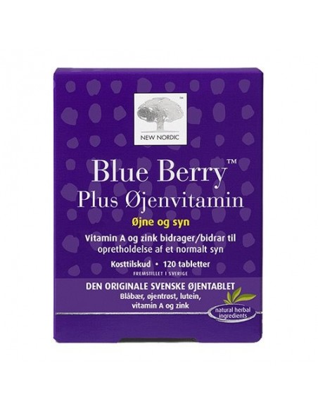 Blue Berry plus øjenvitamin - 120tab - New Nordic Healthcare