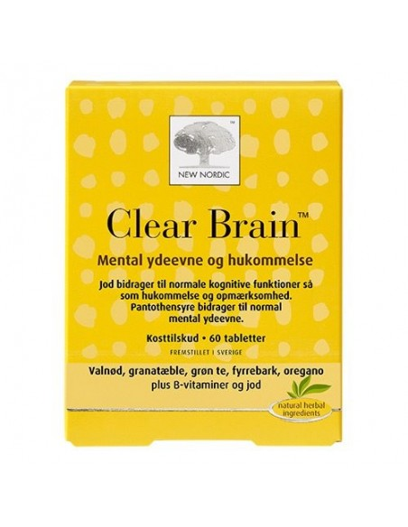 Clear Brain - 60 tab - New Nordic Healthcare