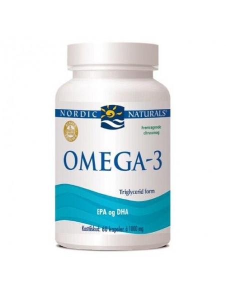 Omega 3 m. citrussmag - 60 kapsler - Nordic Naturals