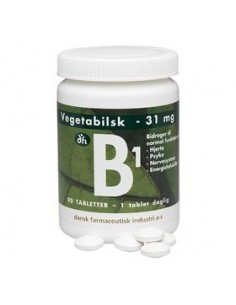 B1 vitamin 31 mg 90 tabletter