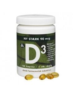 D3-vitamin 90 mcg 120 kapsler