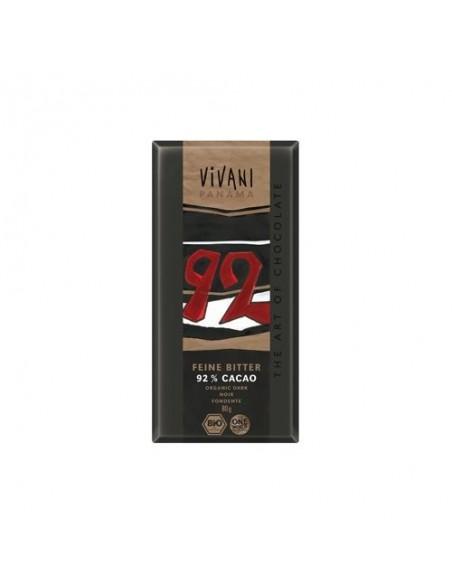 Vivani ekstra mørk chokolade 92% kakao Ø