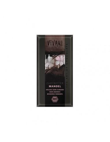 Vivani chokolade mørk m. hele mandler oe