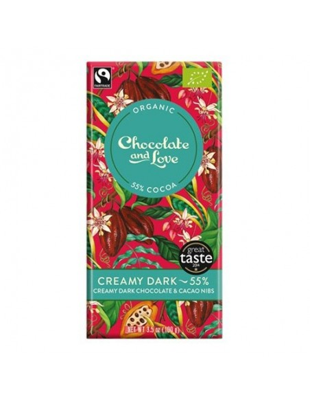 Chokolade Creamy Dark 55% Økologisk Chocolate and Love