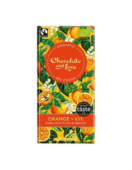 Chokolade Orange 65% Økologisk Chocolate and Love