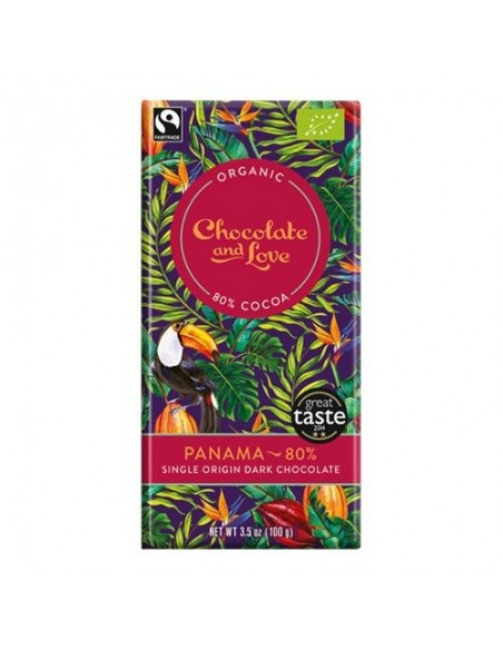 Chokolade Panama 80% Økologisk Chocolate and Love