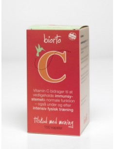 Biorto C -vitamin 150 kapsler