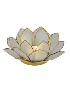 3 lags Lotus Stager / hvid 14 cm