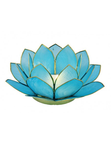 Lotus Stager Light Sea blue, 14 cm.