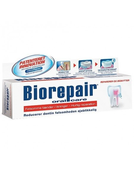 BioRepair Dental sensitive tandpasta rød