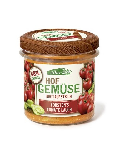 Smørepålæg Tomat Porre, Farm Vegetables, Allos,  135 g