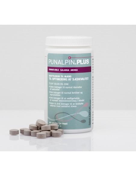 Punalpin® PLUS  180 tabletter – til optimering af sædkvalitet
