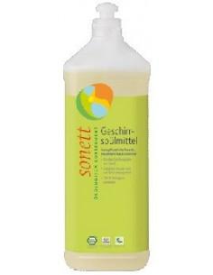 Sonett opvaskemiddel med citron 1000 ml Refill fra NaturPoteket.dk
