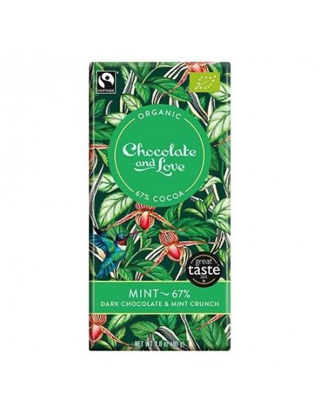 Chokolade Mint 67% Økologisk Chocolate and Love