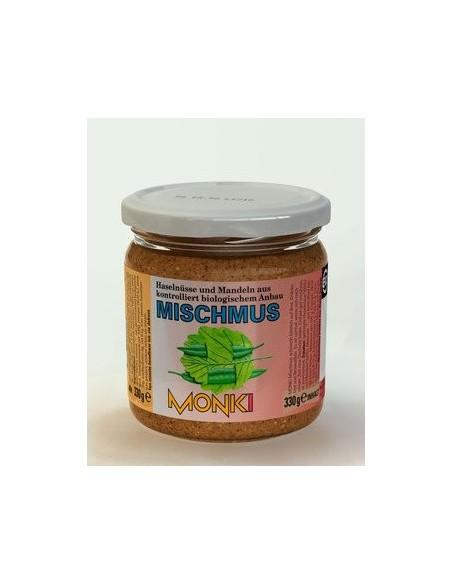 Monki blandet nøddesmør med salt, Økologisk 330 g.