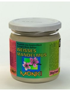 Monki hvid mandelsmør Økologisk 330 g.