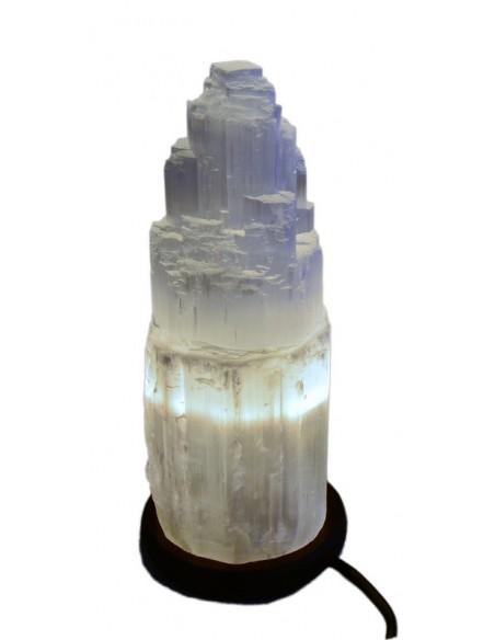 El Lampe Selenit ca 24 cm høj
