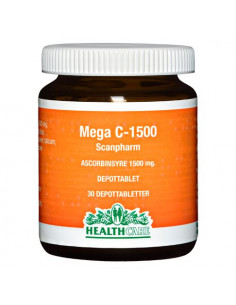 Mega C 1500 mg HealthCare fra naturpoteket.dk