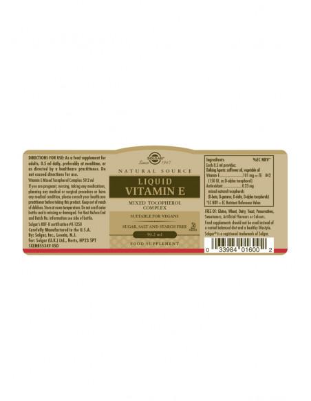 Solgar Liquid Vitamin E 59,2 ml fra naturpoteket.dk