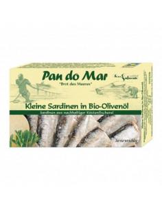 Små sardiner i olivenolie fra NaturPoteket.dk