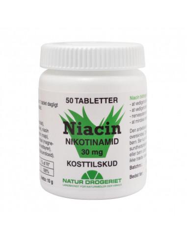 Niacin Nikotinamid 50 tabl. 30 mg fra NaturPoteket.dk