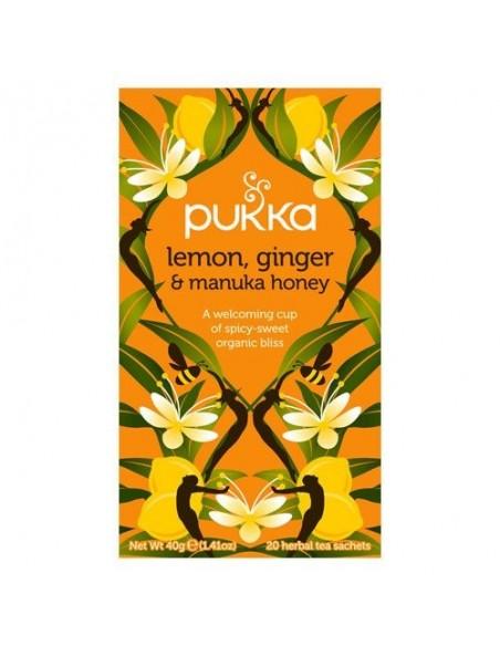 Lemon, Ginger & Manuka honey te - Pukka