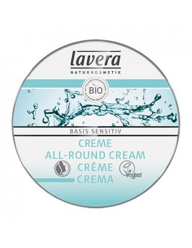 Lavera Basis Sensitiv All-Round Cream - Mini 25 ml fra NaturPoteket.dk