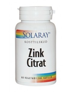 Solaray Zink Citrat  20 mg 60 kap.