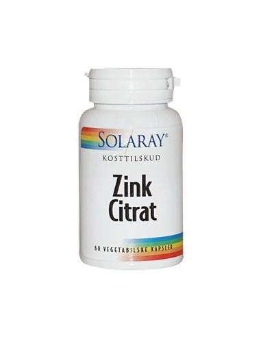 Solaray Zink Citrat  20 mg 60 kap.
