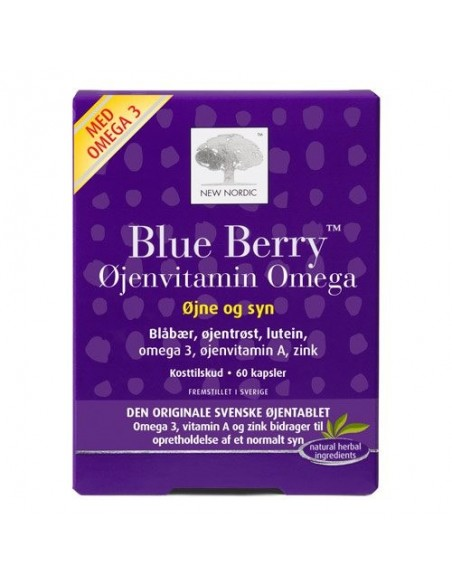 Blue Berry Omega 3 - 60tab - New Nordic Healthcare