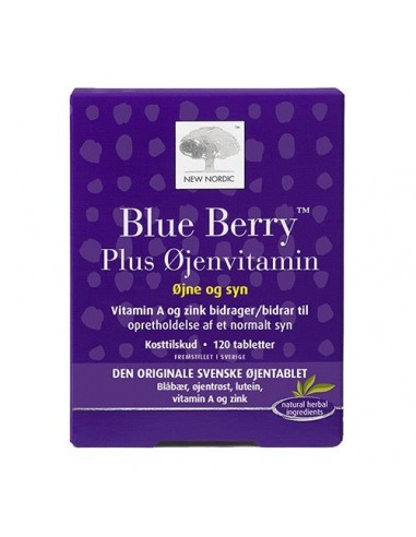 Blue Berry plus øjenvitamin 120tab