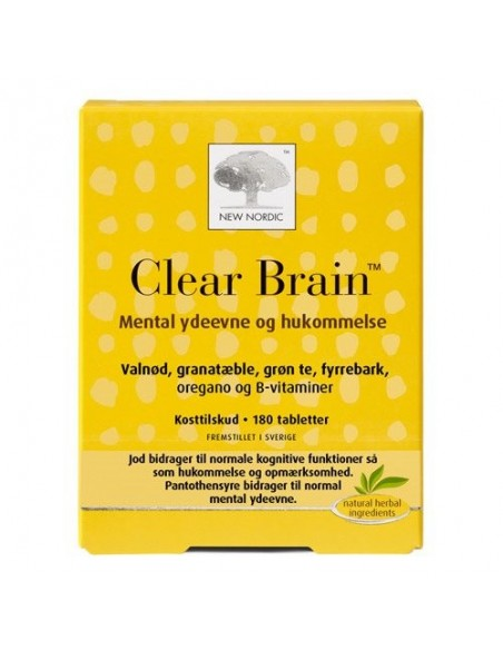 Clear Brain - 180 tab - New Nordic Healthcare