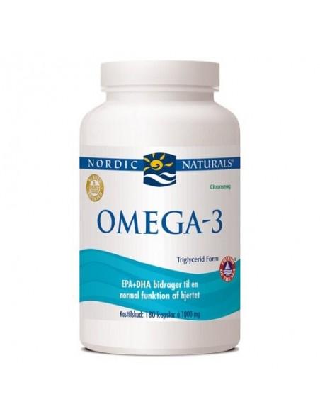 Omega 3 m. citrussmag - 180 kapsler - Nordic Naturals